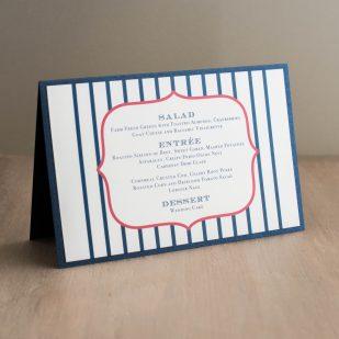 Stars & Stripes Tented Menu Cards