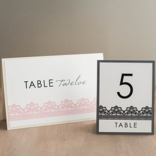 Modern Lace Tented Table Numbers