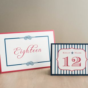 Stars & Stripes Tented Table Numbers