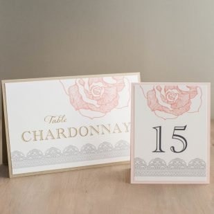 Ruffled Romance Tented Table Numbers