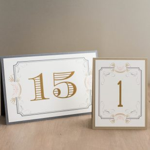 Art Deco Love Tented Table Numbers