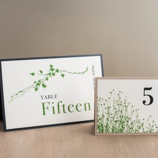 Modern Garden Tented Table Numbers