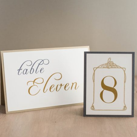 Antique Glitter Tented Table Numbers
