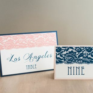 Deco & Lace Tented Table Numbers