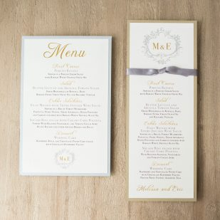Antique Glitter Flat Menu Cards