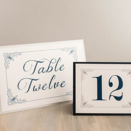 Classic Love Tented Table Numbers