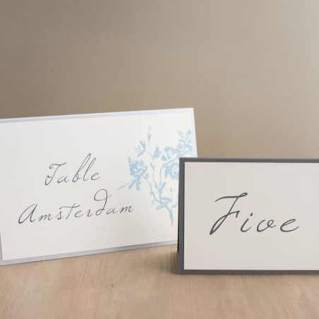 Elegant Blue Tented Table Numbers
