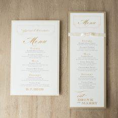 elegantivorymenucards