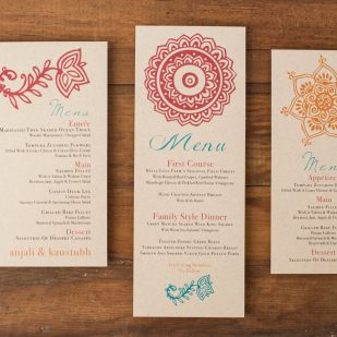 Henna Love Flat Menu Cards