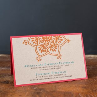 Henna Love Tented Menu Cards