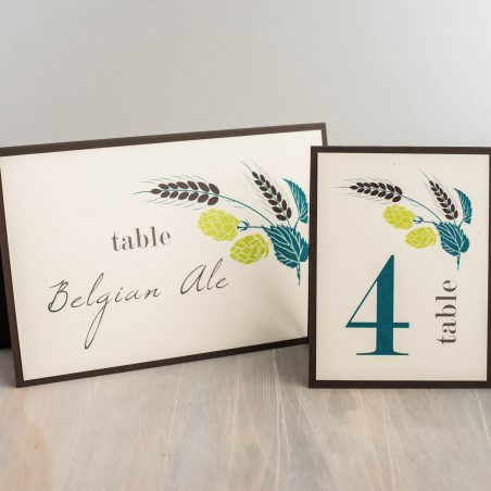 Hops Love Tented Table Numbers