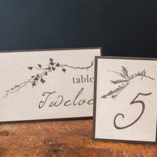 Ivory Romance Tented Table Numbers
