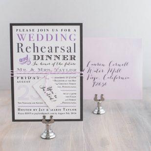 Lavender Rehearsal Dinner Invitations