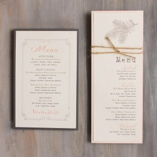 Moss Tree Flat Menu Cards