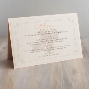Moss Tree Tented Menu Cards