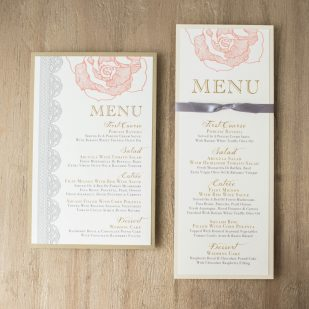 Ruffled Romance Flat Menu Cards