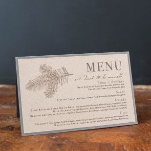 Rustic Charm Tented Menu Cards