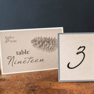 Rustic Charm Tented Table Numbers