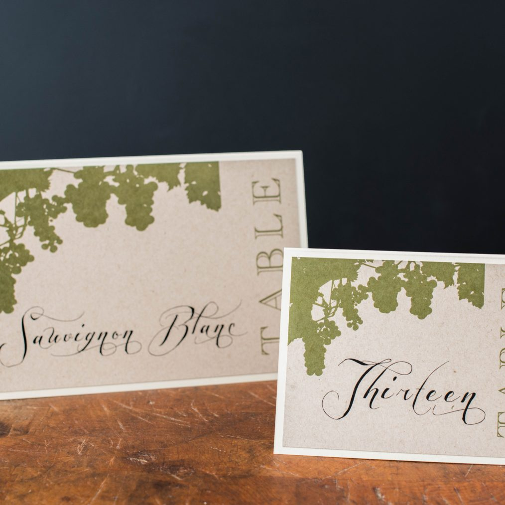Rustic Chic Winery Tented Table Numbers