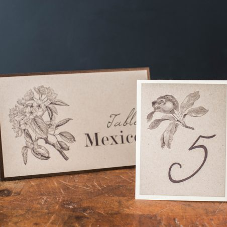 Rustic Magnolia Tented Table Numbers