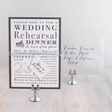silverrehearsalinvitations