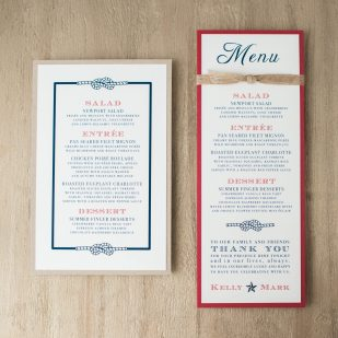Stars & Stripes Flat Menu Cards