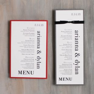 Urban Elegance Flat Menu Cards