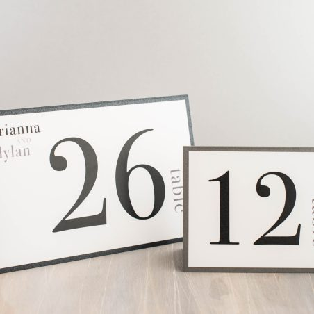 Urban Elegance Tented Table Numbers