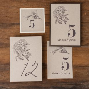Rustic Magnolia Flat Table Numbers