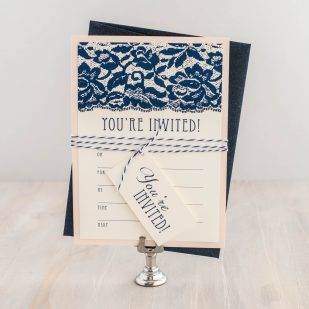 Deco & Lace Fill in the Blank Invitations