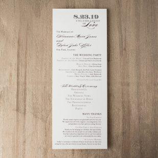 Classic Elegance Flat Ceremony Programs