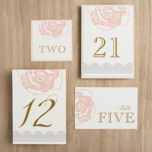 Ruffled Romance Flat Table Numbers