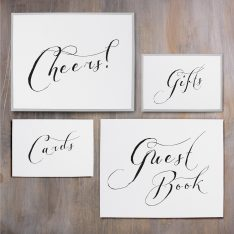 Black Script Custom Signs