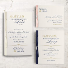 Elegant Navy Script Ceremony Booklets