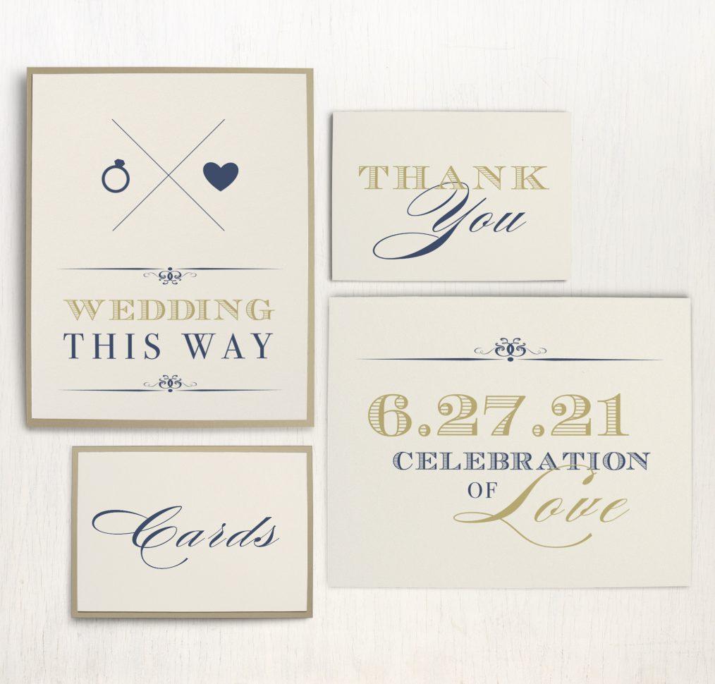 Elegant Navy Script Custom Signs