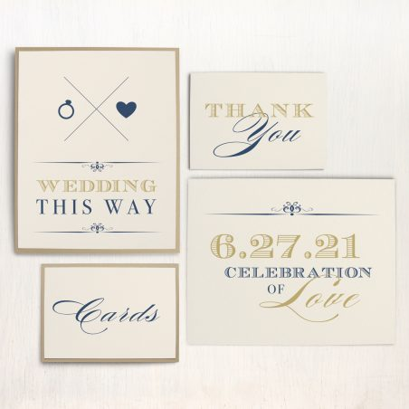 Elegant Navy Script Custom Signs