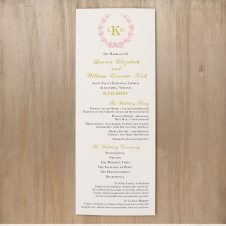 Gold And Blush Monogram Flat Ceremony Programs