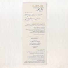 Elegant Navy Script Flat Ceremony Programs