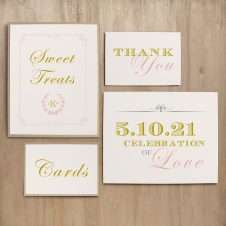 Gold and Blush Monogram Custom Signs