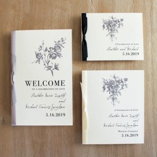 All White Ceremony Booklet