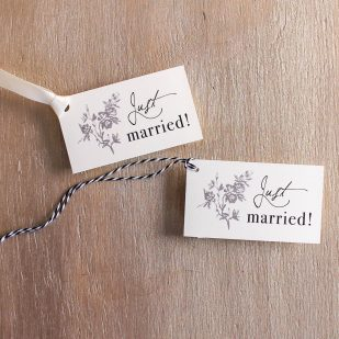 All White Favor Tags