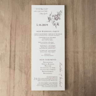 All White Flat Ceremony Programs