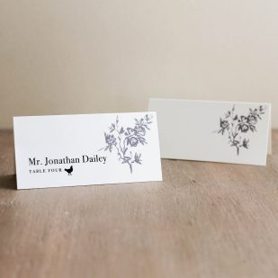 All White Place and Escort Cards