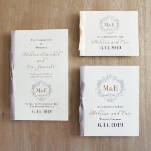 Antique Glitter Ceremony Booklet