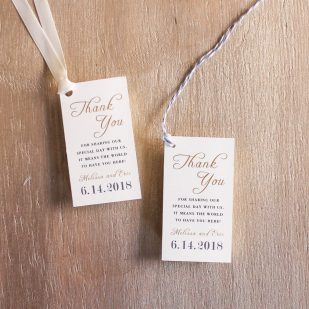 Antique Glitter Favor Tags