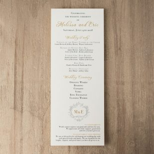 Antique Glitter Flat Ceremony Programs