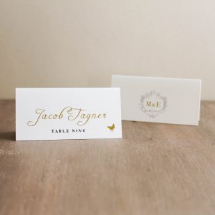 Antique Glitter Place and Escort Cards