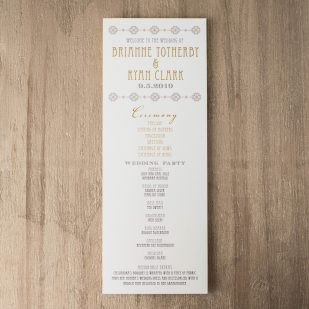 Art Deco Love Flat Ceremony Programs