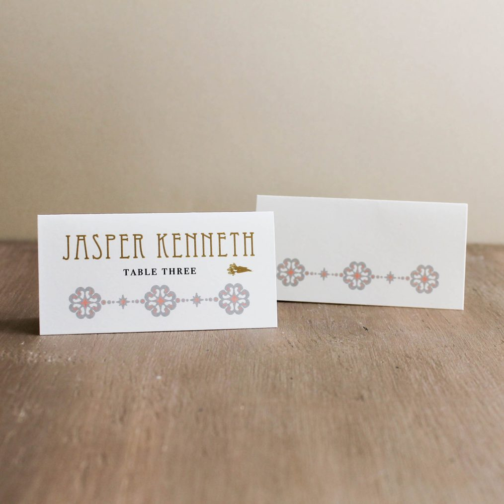 Art Deco Love Place And Escort Cards