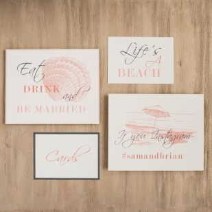 Beach Romance Custom Signs